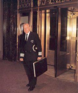 New York - 7.20am: Capt David Leney leaves the hotel in Manhattan