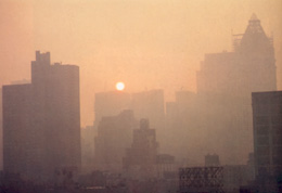 Rhapsody in gold: the morning sun begins to climb over the Manhattan skyline